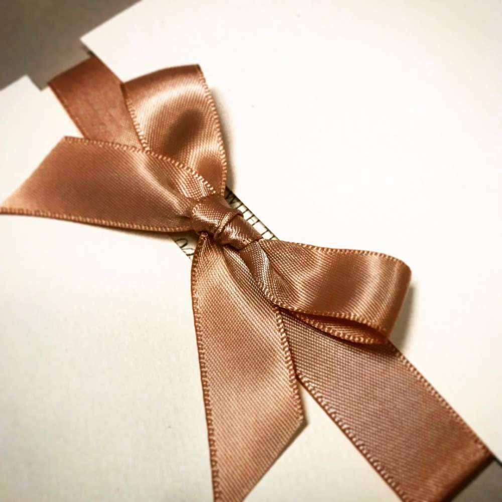 Champagne Double Sided Satin Ribbon